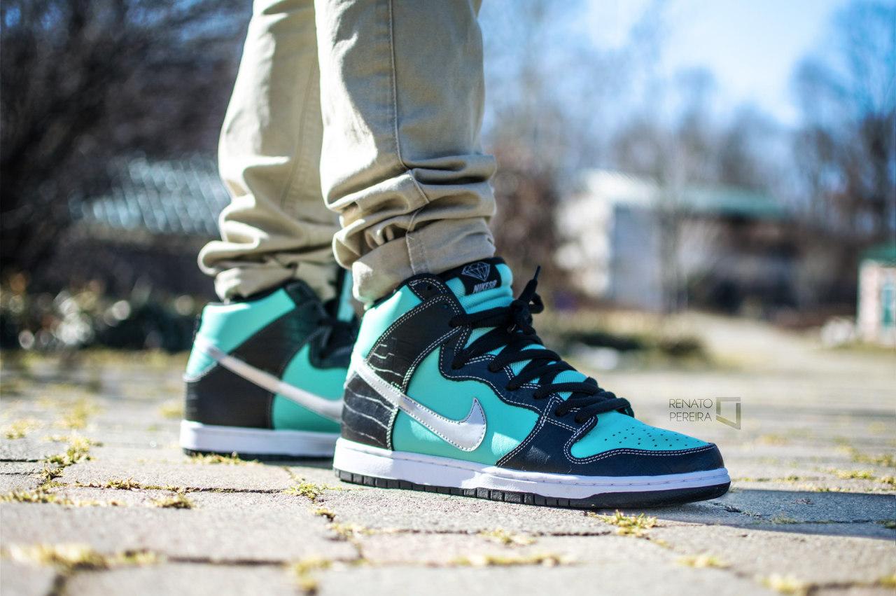 Nike SB Dunk High 'Tiffany' (by