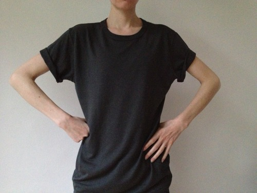 2013 | BLAG Label T-shirt Nø One London Here's how it looks for the girls!  Our first BLAG t-shirt, 70% Bamboo, 30% Organic Cotton, handprinted in London. Each t-shirt in the first batch shipment will contain a hand made and signed label created by Tom Hardy, Sally A. Edwards & Sarah J. Edwards. All purchases will include authenticity certificate - we will notify when sold out, so don't worry about missing out! Launch colours: white with inside art print, and charcoal with outside art print. Sally is wearing size small white and charcoal.