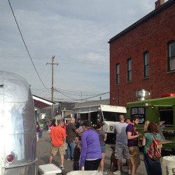 Bustling food truck scene.  (at Downtown Rochester)