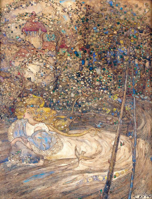 "poppies-for-ophelia:  ""Ophelia"" Annie French (1872-1965)"