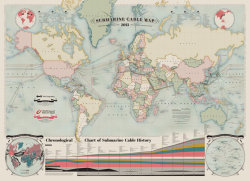 Submarine Cable Map 2013 via telegeography.com via co.design. Want this.