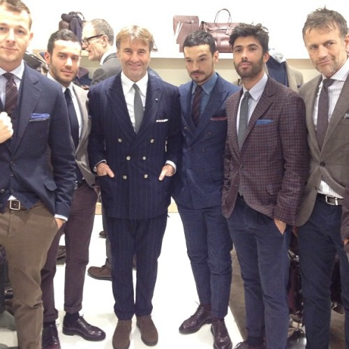 gqfashion:  Brunello Cucinelli KILLING IT at Pitti Uomo! JM