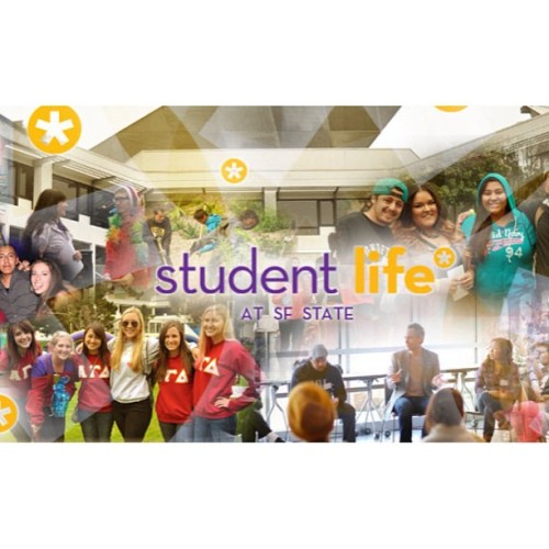 Look at who's on the Student Life at SF State's banner for their web page! Representin! Thanks @lifeatsfstate ! 🐊  #alphagammadeltasfsu #alphagammadelta #agd #sfstate #sfsu (at San Francisco State University)