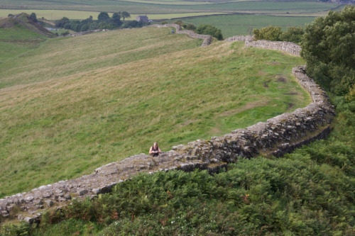 cmedinburgh:  Hadrian's Wall. A section of the wall in an area where it was built of stone. An amazing feat of engineering, with forts, towns, chapels and roads all lying on the south side to explore.