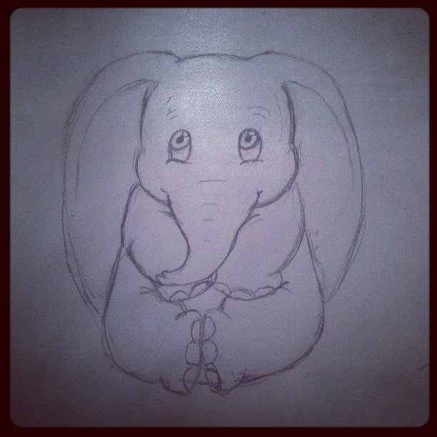 Watched dumbo and got in the mood to draw.