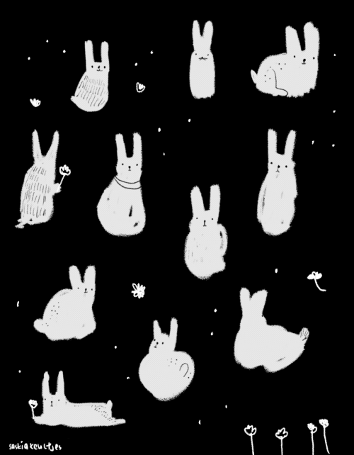 saskiakeultjes:  Today: just rabbits and flowers by Saskia Keultjes shop facebook