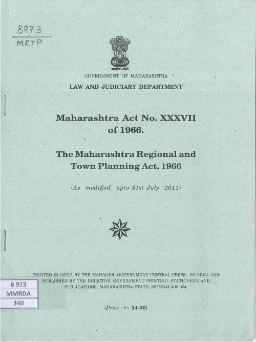 1966 maharashtra regional and town planning act