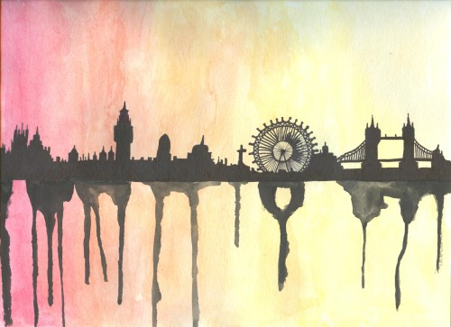 sketchgirl2:  london skyline :)