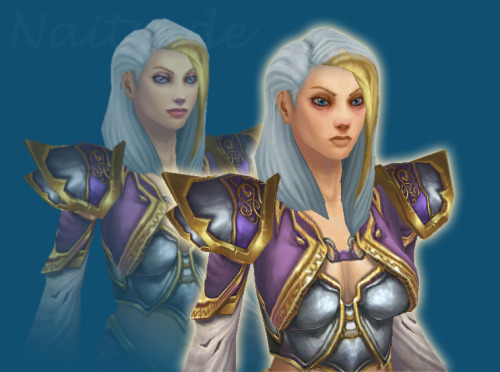 kiango:  grizzlyhills:  deviantart user Naitsade redid Jaina's MoP face and it is GREAT  FUCK
