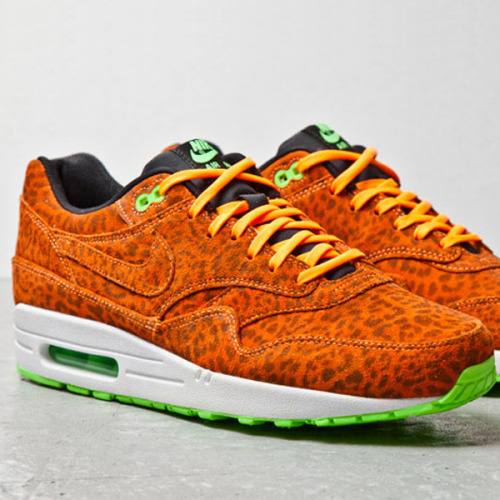 "highsnobiety:  Nike Air Max 1 FB ""Orange Leopard"""