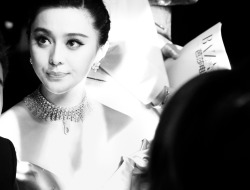 annstreetstudio:  Fan Bingbing wearing a beautiful Chopard choker at the Trophée Chopard party…