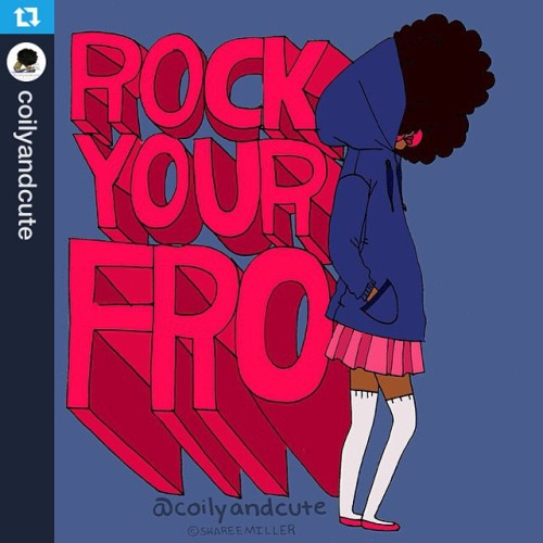 #Repost from @coilyandcute—-Rock your Fro! #naturalhair #naturalista #naturalhairdaily #naturalhairillustration #afro #Art #illustration #coilyandcute