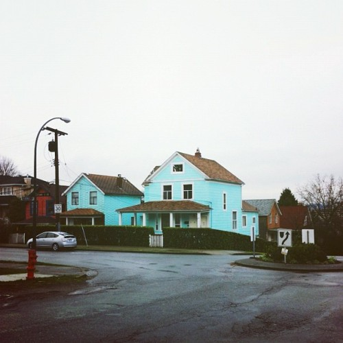 The colour of these houses always makes me laugh, it's so preposterous!