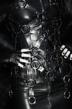 fashion Leather Witch darkness goth gothic harness nu goth dark fashion gothic girl all black pleather gothic fashion all black everything dark beauty gothic beauty gothic blog nu goth fashion