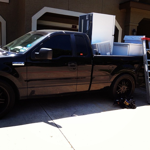 Lowered trucks can too! Lol #ford #f150 #renegade #blackonblack