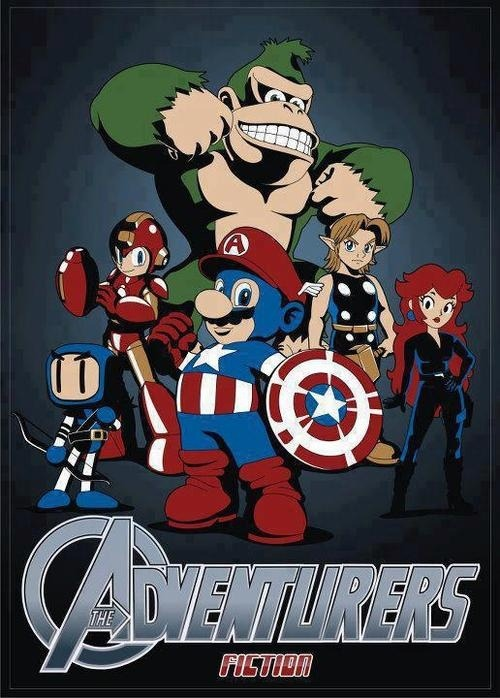inkbot-tv:  Super Smash Avengers ~ A Daily Dose of Juxtaposition, the Avengers / Nintendo.