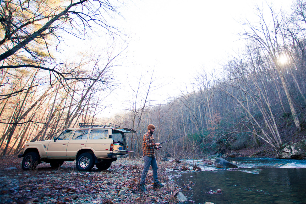 tombarbee:  Brad and his beautiful FJ60.