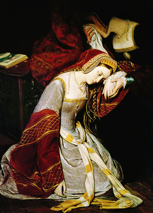 'Anne Boleyn in the Tower' (1835). Painting by Édouard Cibot