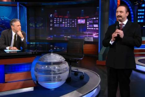 "thedailyshow:  ""Greeb is good. Greeb is right. Greeb works."" - John Hodgman  Watch it."