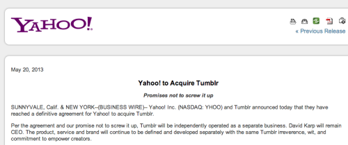 openareas:  Yahoo promises to not screw it up.