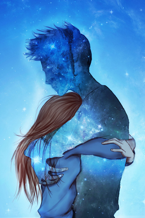 Love Art Girl Tumblr Draw Galaxy Boy Hug Exo Kris Exo L Sahasim