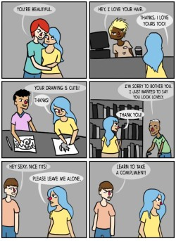 pleasestopbeingsad:   Street harassment is not a compliment.