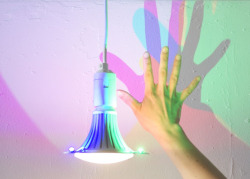 CMYK bulb by Dennis Parren  (via CMYK light bulb that casts coloured shadows by Dennis Parren)