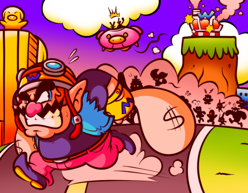 jamesartsystuff:  Pay Day at WarioWare Inc.