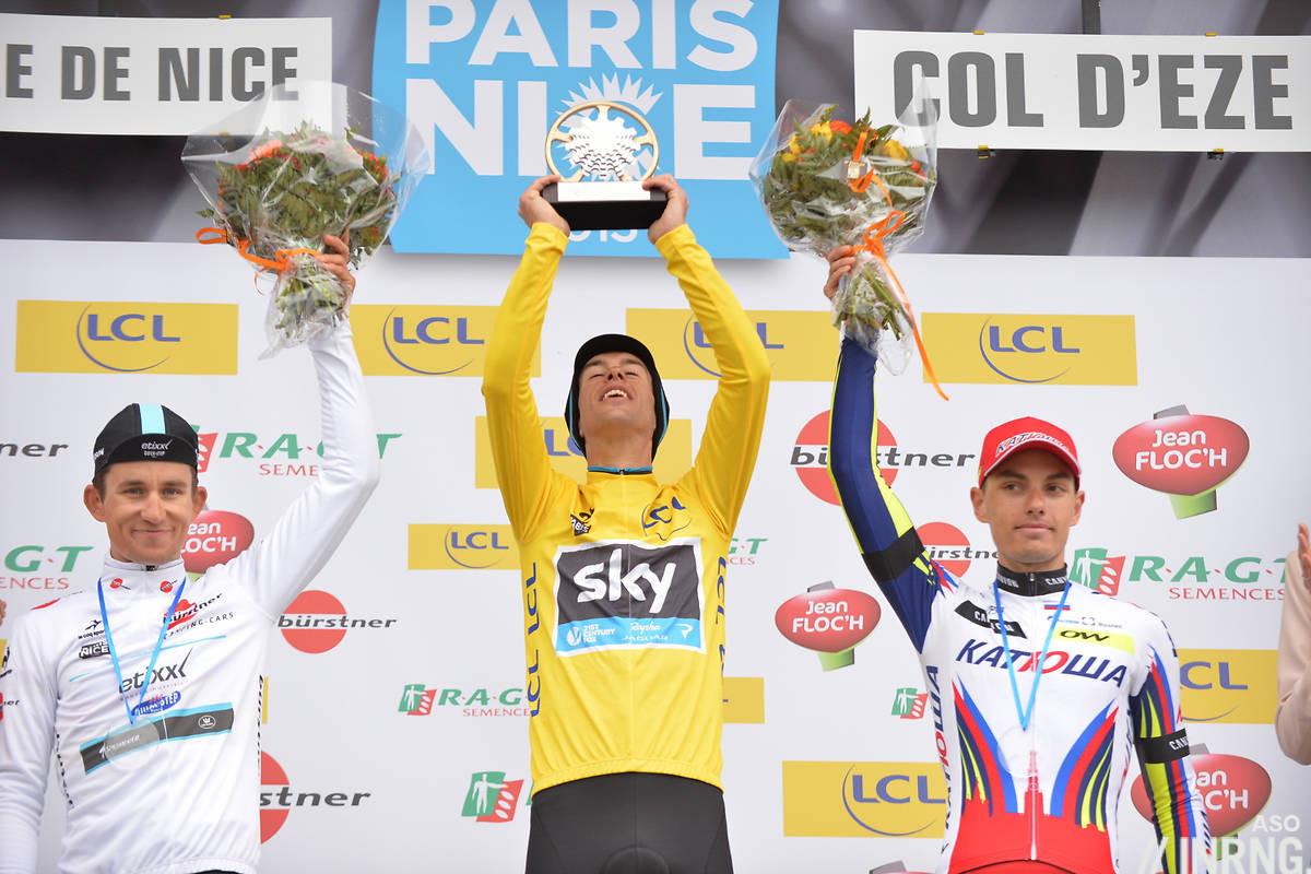 Paris Nice 2015 Col d'Eze podium Porte