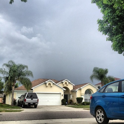Watching the brewing storm from the garage!! #storm #brewing #garage #florida