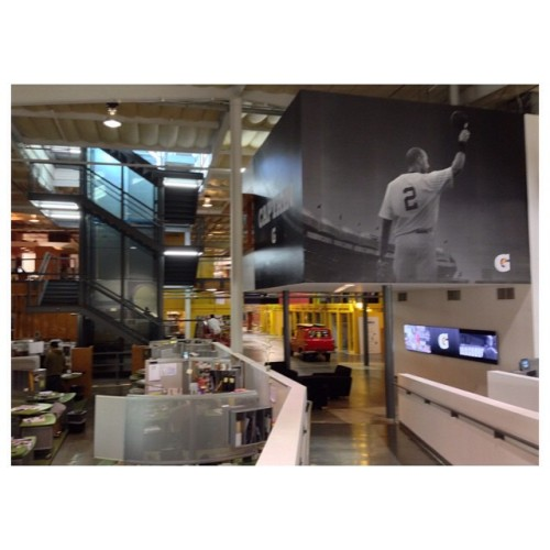 So that's where they hung the #gatorade #Jeter signage in our office. #letsgoOs  (at TBWA/Chiat/Day)