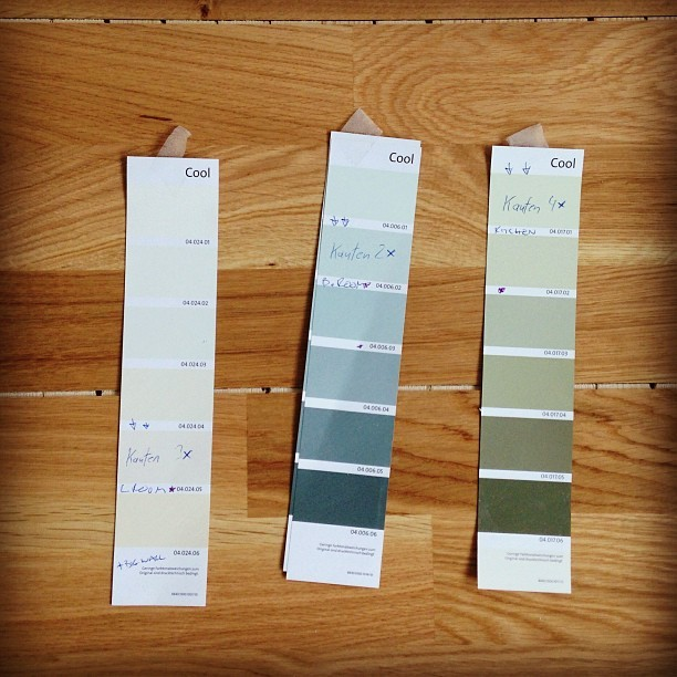 Our floor finally came, and I was able to pick out paint! #newapartment #interiordesign