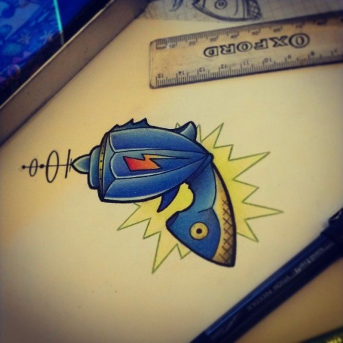 #tattoodesign #drawing #raygun #tattoo #artist #fun #iguk #igers #instagood #ignation