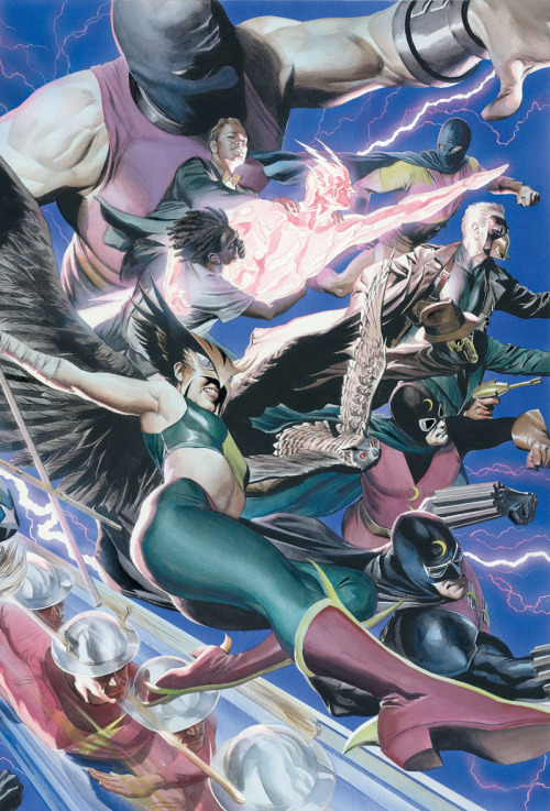 JSA #69 cover by Alex Ross  Damn cool.