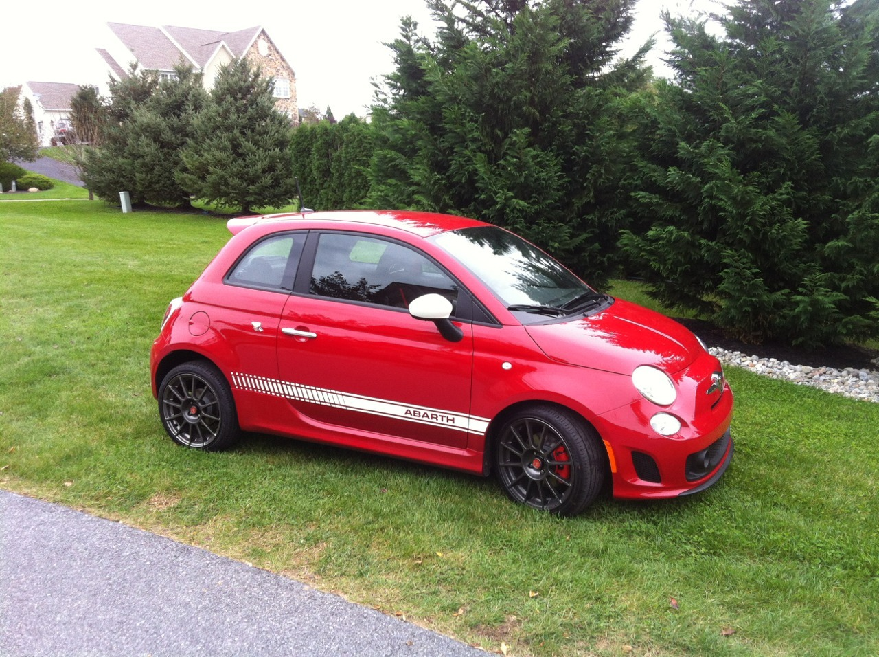 ceremonyinalonelyplace:  I've been driving my Dad's Abarth to work for the past few days and I can honestly say I've never had so much fun driving. Every time that turbo spools up and the exhaust starts to crackle I get a huge grin on my face.