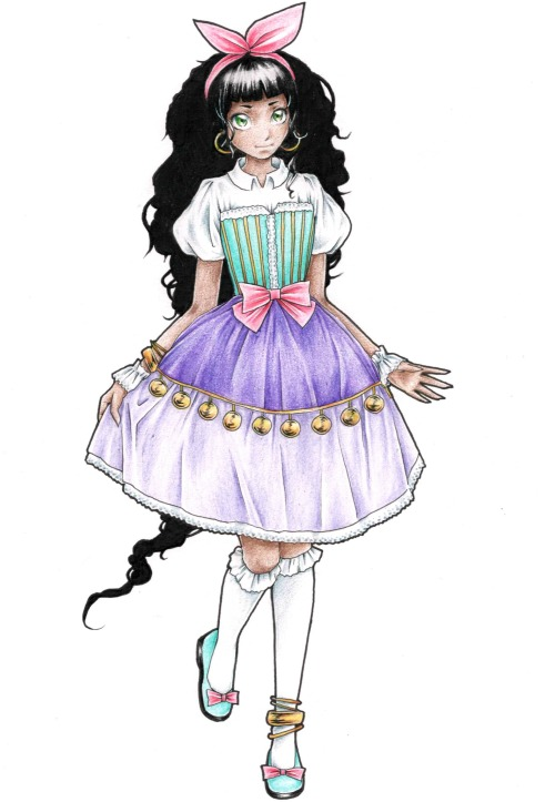 faxxis-art:  Scanned and final version of Lolita Esmeralda.