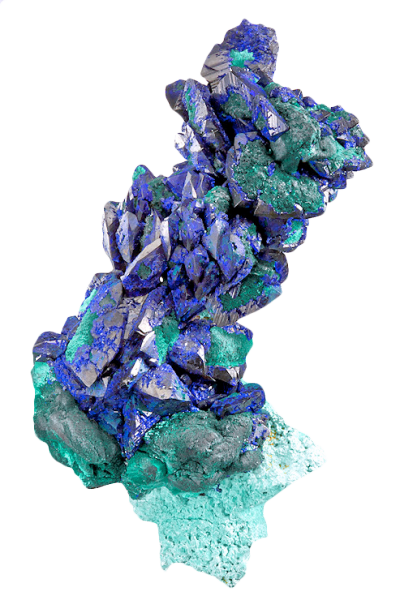 sensual-transparency:  Azurite on Malachite Drag it! it's transparent!