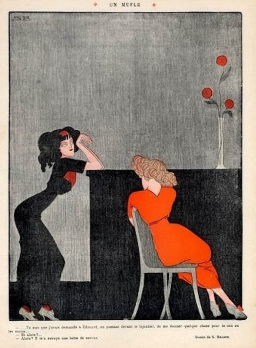 noonesnemesis:  The High Class Hookers Sven Brasch Le Rire 1912