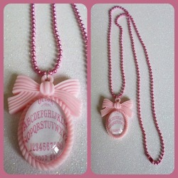 Pink Ouija Board Necklace https://www.etsy.com/shop/CalamityJayneDesigns