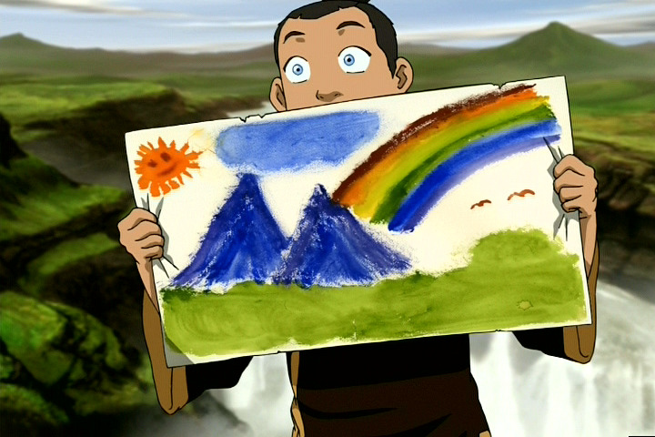 fullmetalforce64:  Sokka Arts like a champ  That's some serious scenery if you ask me…