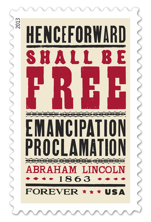 nevver:  150th anniversary of the Emancipation Proclamation Forever Stamp