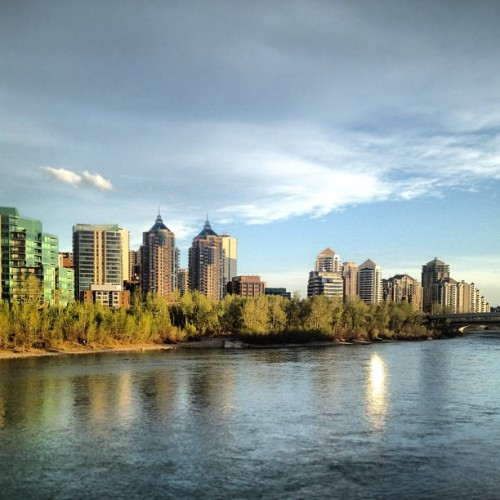 #yyc #calgary #downtown #river #water (at Peace Bridge)