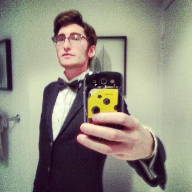 Happy new year! #latergram #Nye #blacktie #tux