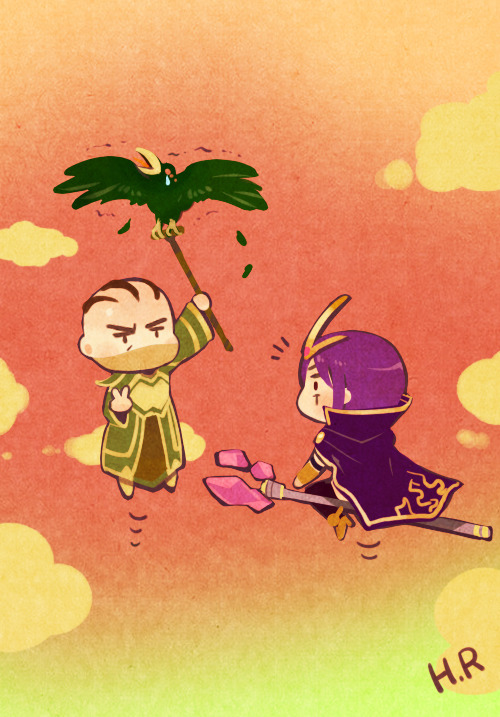 summoner-saigetsu:  Thanks Hooreng for gifting! AND YES HOW CAN THEY CUTE LIKE DAT.  *dying*