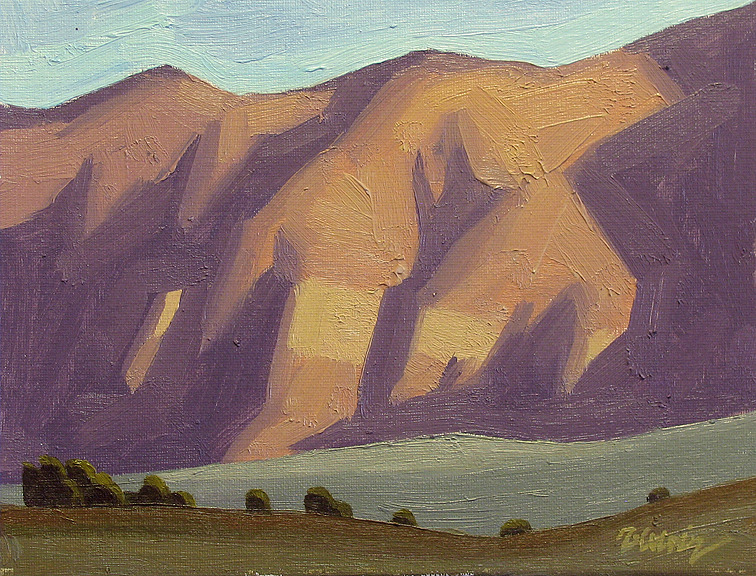 Red Mountain Shadows 8x10 inches, oil by Rob Colvin