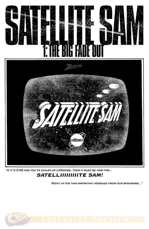 iamdavidbrothers:  (via Preview: Satellite Sam #1 - Comic Book Resources) Satellite Sam preview, courtesy of Howard Chaykin & Matt Fraction!