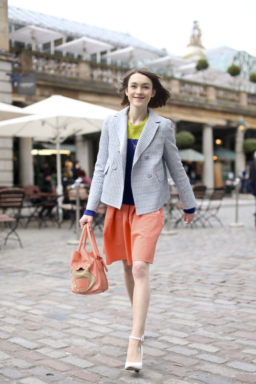 Ella Catliff (Select Models, London) aka @Ella_LaPetite at #LFW (#LondonFashionWeek) today