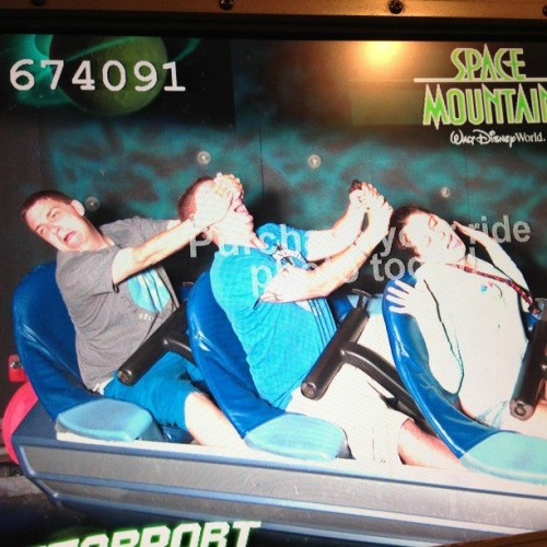 Oh yeah…and this happened #SpaceMountain  (at Space Mountain)