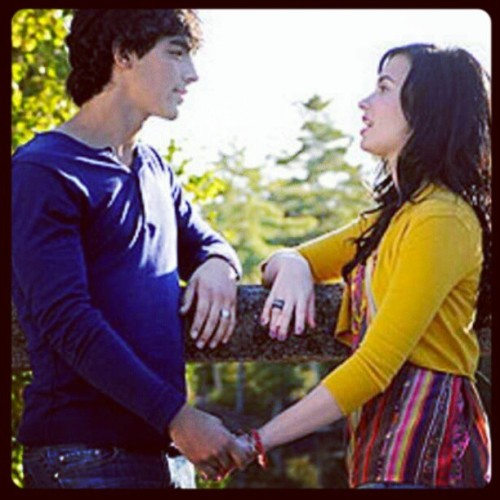 Joe Jonas and Demi Lovato. #they #are #a #perfect #couple #cute #nice #sweet #this #is #true #love #jemi