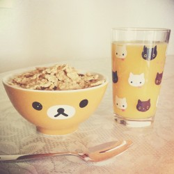 kawaii-factory:  Kawaii San-x breakfast #rilakkuma #kutusitanyanko #sanx #japan